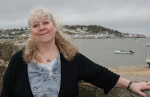 Helen Hollick at Instow, North Devon (photo Bideford People News)