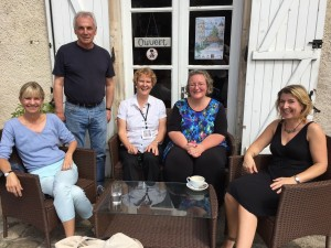 Kate Mosse, Barry Walsh, moi, Elizabeth Haynes, Isobel Ashdown