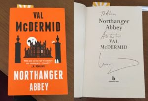 Northanger cover and signed