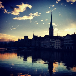 Zurich at night  (Photo courtesy of   Libby O)