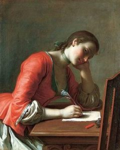 Girl Writing a Love Letter, Pietro Antonio Rotari, 1707 – 1762