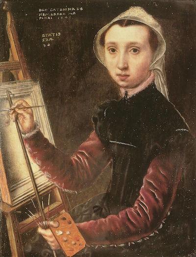 Self-portrait Caterina van Hermessen