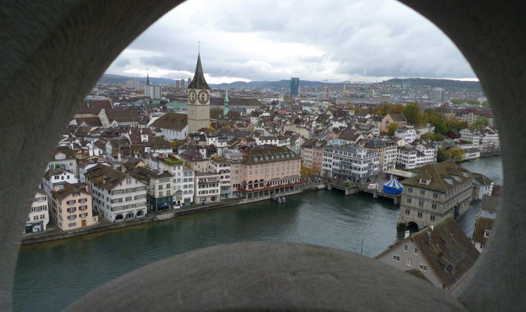 Overview of Zürich, Switzerland