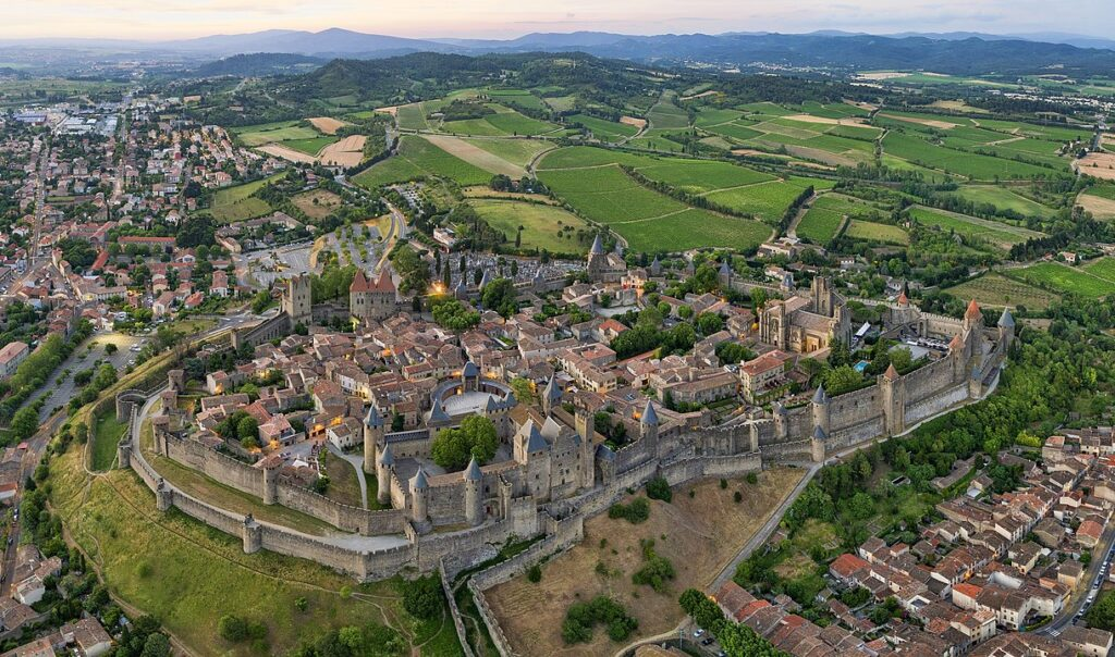 Aerial view of Carcasonne